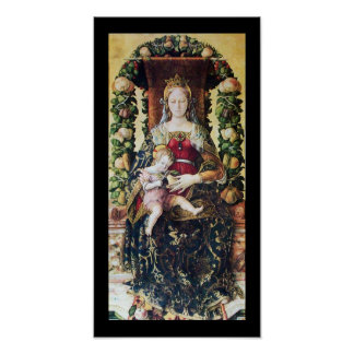 VIRGIN WITH CHILD particular Poster