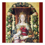 VIRGIN WITH CHILD red 5.25x5.25 Square Paper Invitation Card