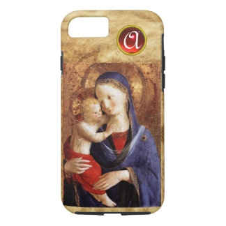 VIRGIN WITH CHILD  Red Ruby Monogram iPhone 8/7 Case
