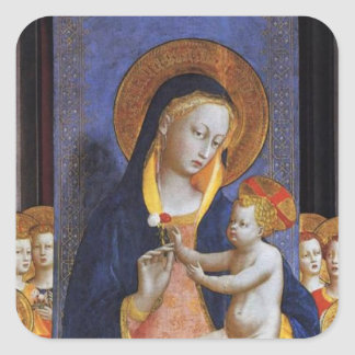 VIRGIN WITH CHILD SQUARE STICKER