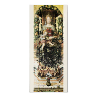 VIRGIN WITH CHILD White Champagne Metallic Card
