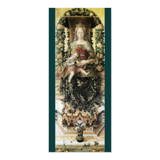 VIRGIN WITH CHILD White Green Card