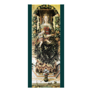 VIRGIN WITH CHILD White Green Announcement