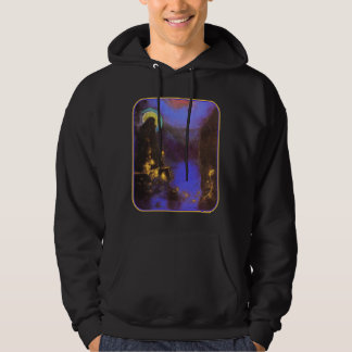 Virgin with Corona: Symbolist Painting by Redon Hoodie