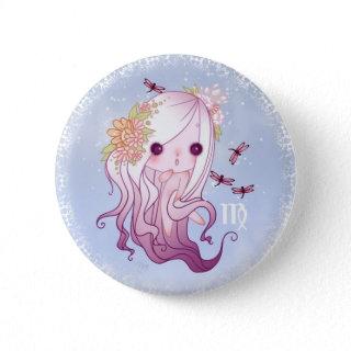 Virgin Zodiac virgo Button