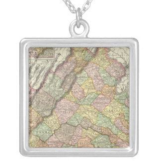 Virginia 4 silver plated necklace