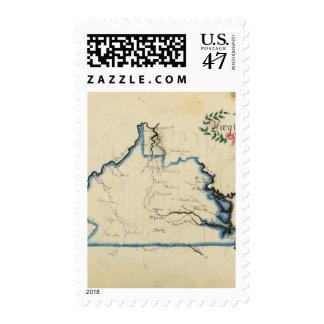 Virginia 5 postage