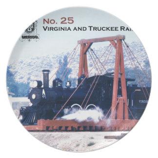 Virginia and Truckee Railroad engine #25 plate