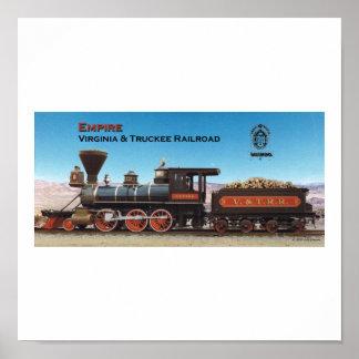 Virginia and Truckee Railroad engine Empire print