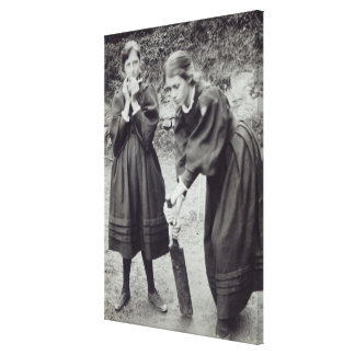 Virginia and Vanessa Stephen, in St. Ives, 1894 Canvas Print