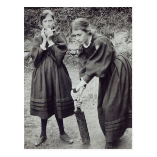 Virginia and Vanessa Stephen, in St. Ives, 1894 Postcard