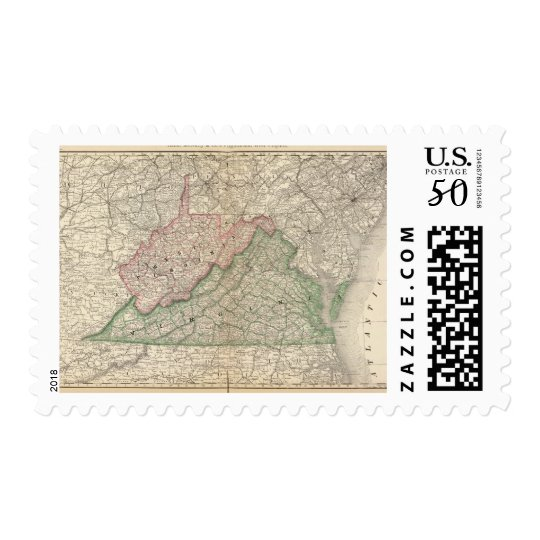 Virginia and West Virginia 2 Postage