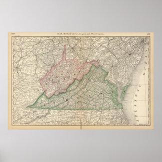 Virginia and West Virginia 2 Print