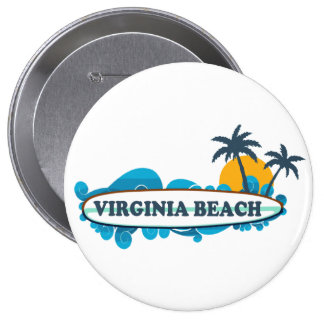 Virginia Beach. 4 Inch Round Button