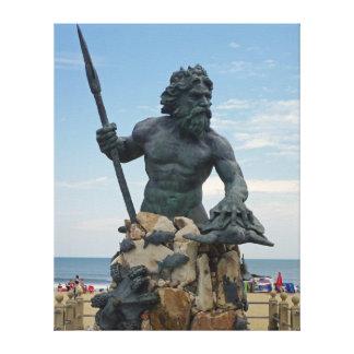 Virginia Beach King Neptune Canvas Print
