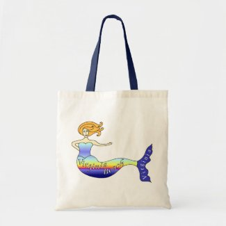 Virginia Beach Mermaid Canvas Bags
