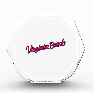 Beach Themed Virginia Beach neon sign in magenta Award