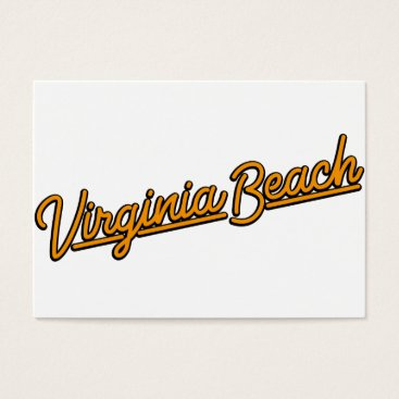 Beach Themed Virginia Beach neon sign in orange Business Card