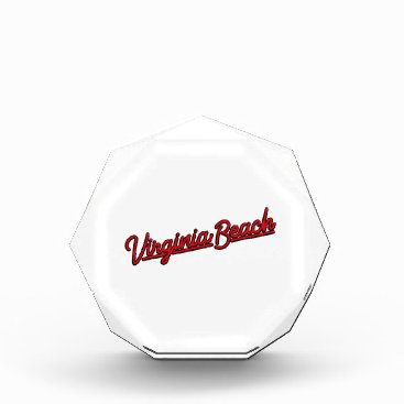 Beach Themed Virginia Beach neon sign in red Acrylic Award