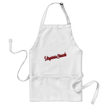 Beach Themed Virginia Beach neon sign in red Adult Apron