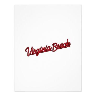 Beach Themed Virginia Beach neon sign in red Letterhead
