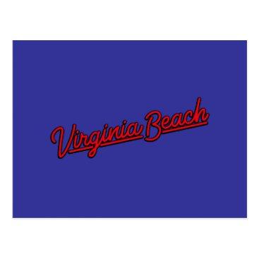 Beach Themed Virginia Beach neon sign in red Postcard