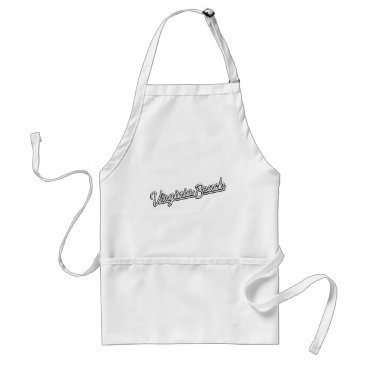 Beach Themed Virginia Beach neon sign in white Adult Apron