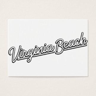 Virginia Beach neon sign in white Business Card
