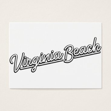 Beach Themed Virginia Beach neon sign in white Business Card