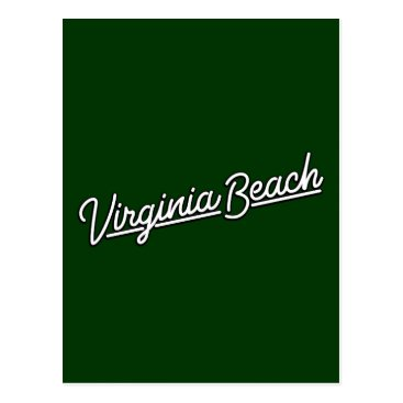 Beach Themed Virginia Beach neon sign in white Postcard