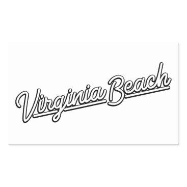 Beach Themed Virginia Beach neon sign in white Rectangular Sticker