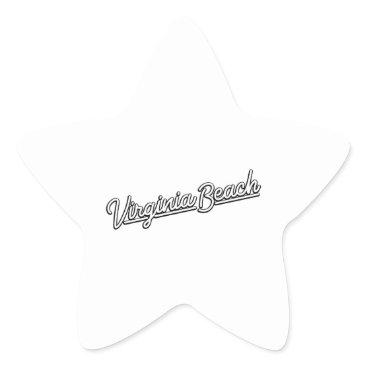 Beach Themed Virginia Beach neon sign in white Star Sticker