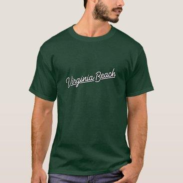 Beach Themed Virginia Beach neon sign in white T-Shirt