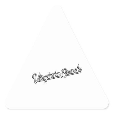 Beach Themed Virginia Beach neon sign in white Triangle Sticker