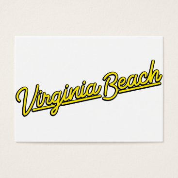 Beach Themed Virginia Beach neon sign in yellow Business Card