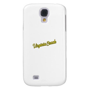 Beach Themed Virginia Beach neon sign in yellow Samsung Galaxy S4 Cover