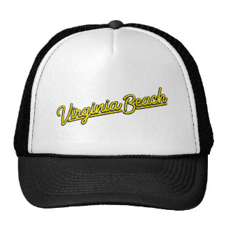 Virginia Beach neon sign in yellow Trucker Hat