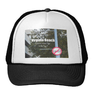 Virginia Beach Profanity Signs Trucker Hat