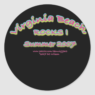 virginia Beach rocks2007 Classic Round Sticker