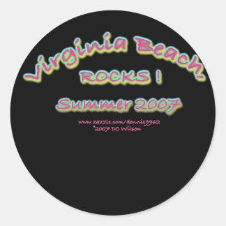 virginia Beach rocks2007 Classic Round Sticker