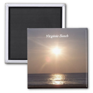 Virginia Beach, salida del sol Imán Cuadrado