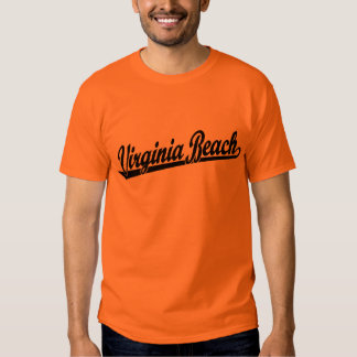 Virginia Beach script logo in black T Shirt