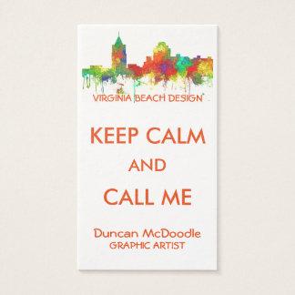 VIRGINIA BEACH SKYLINE BUSINESS CARD