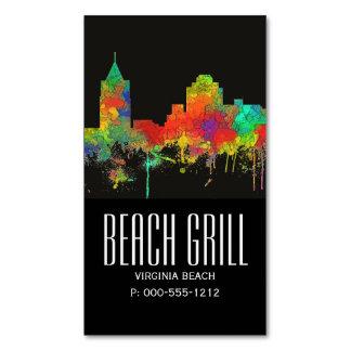 VIRGINIA BEACH SKYLINE MAGNETIC BUSINESS CARD
