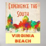 VIRGINIA BEACH SKYLINE POSTER