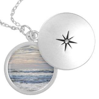 Virginia Beach Sunrise Round Locket Necklace