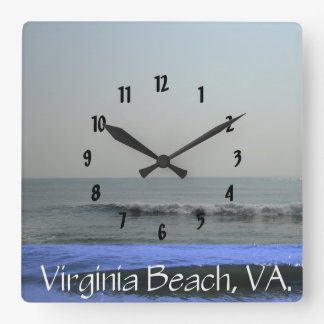 Virginia Beach, VA. #6 Square Wall Clock
