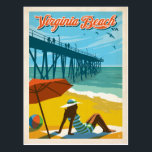 "Virginia Beach, VA Postcard<br><div class=""desc"">Anderson Design Group is an award-winning illustration and design firm in Nashville,  Tennessee. Founder Joel Anderson directs a team of talented artists to create original poster art that looks like classic vintage advertising prints from the 1920s to the 1960s.</div>"