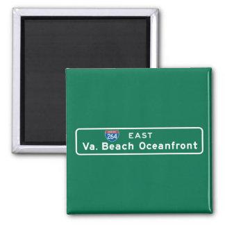 Virginia Beach, VA Road Sign Refrigerator Magnet