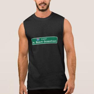 Virginia Beach, VA Road Sign Sleeveless Shirt